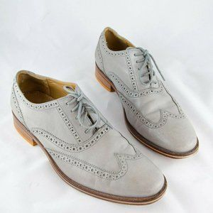 Cole Haan Grey Leather Wingtip Oxford Dress Shoes